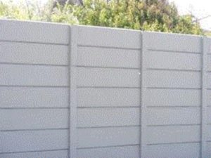 Precast walling in Mitchell Street and  Concrete Palisade Fencing Mitchell Street